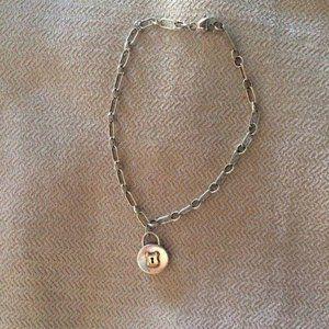 Tiffany & Co Silver 18k Gold Circle Lock Bracelet